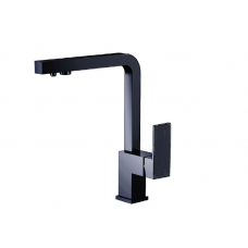 Смеситель для кухни с подключением фильтра LBKM-024 black