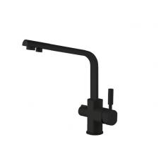 Смеситель для кухни с подключением фильтра LB 1550 black-mat