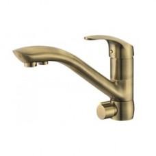 Смеситель для кухни с подключением фильтра LB 1550 bronze