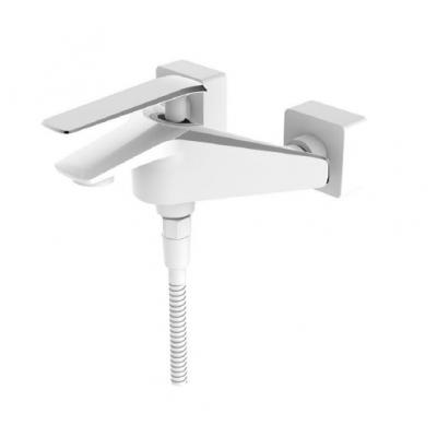 Смеситель для ванны LB 5004 chrome/white